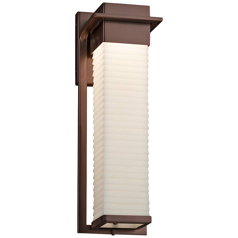 """Porcelina™ Pacific 16 1/2""""H Bronze LED Outdoor Wall Light"""