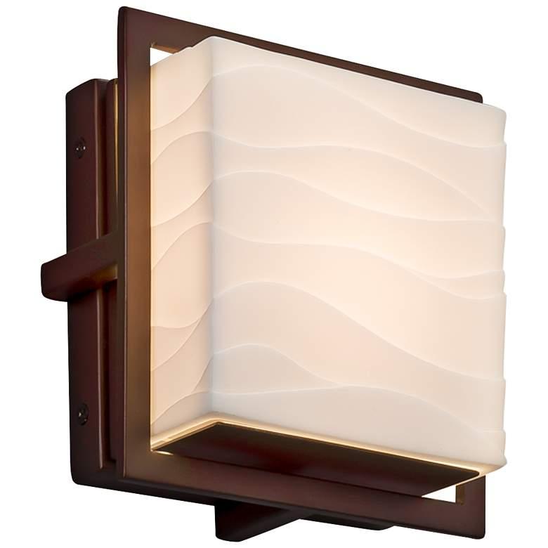 "Porcelina Avalon 6 1/2"" High Dark Bronze LED Outdoor Wall Light"