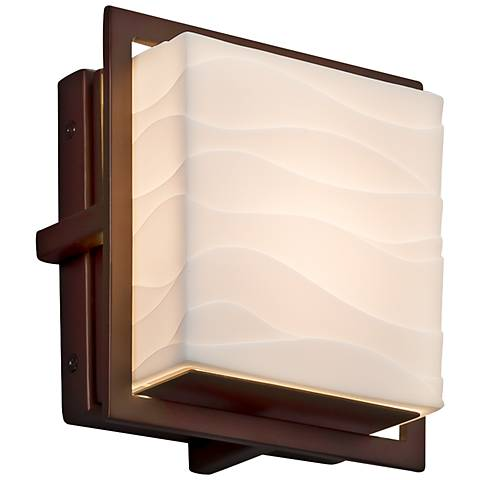 "Porcelina Avalon 6 1/2"" High Dark Bronze LED Outdoor Wall Light"