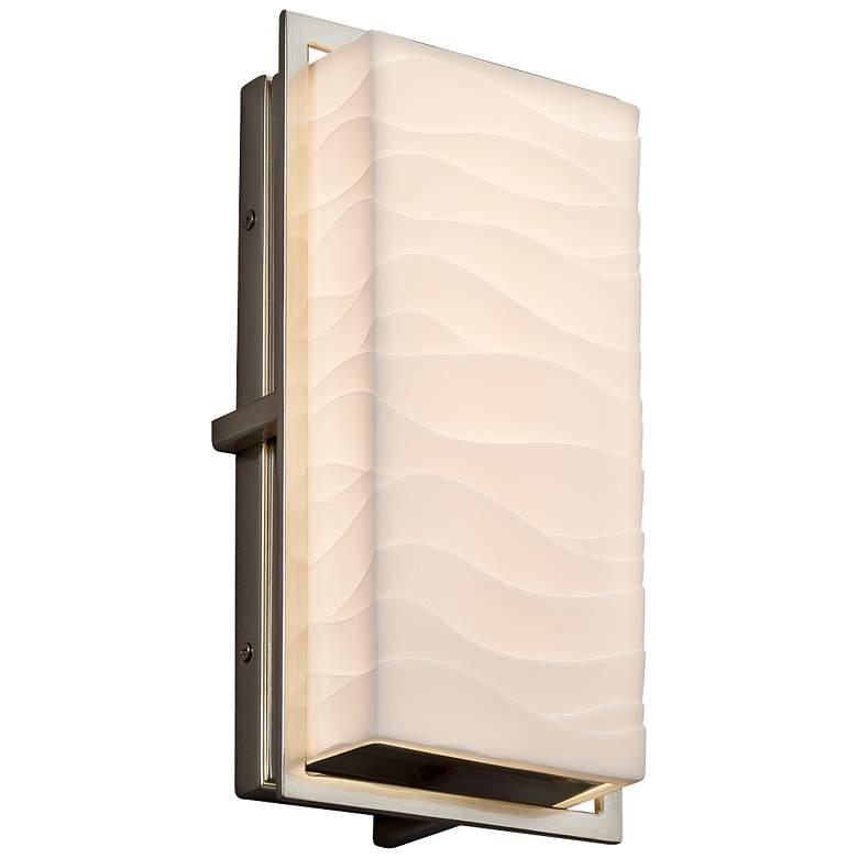 "Porcelina Avalon 12"" High Brushed Nickel LED Outdoor Wall Light"