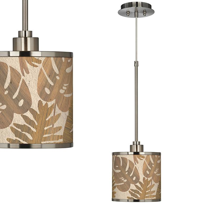 Tropical Woodwork Giclee Glow Mini Pendant Light
