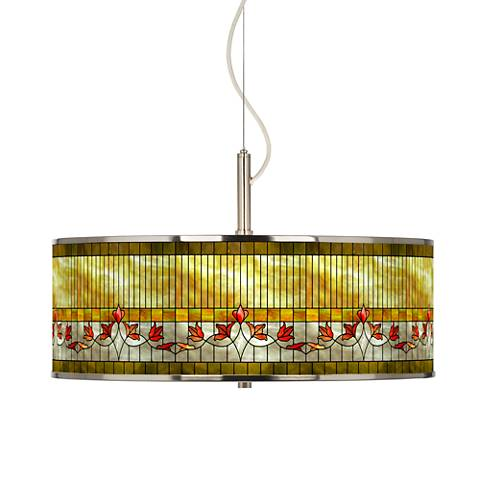 """Tiffany-Style Lily Giclee Glow 20"""" Wide Pendant Light"""