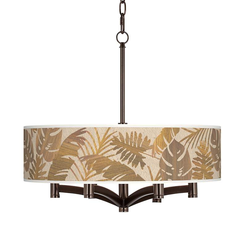 Tropical Woodwork Ava 6 Light Bronze Pendant Chandelier