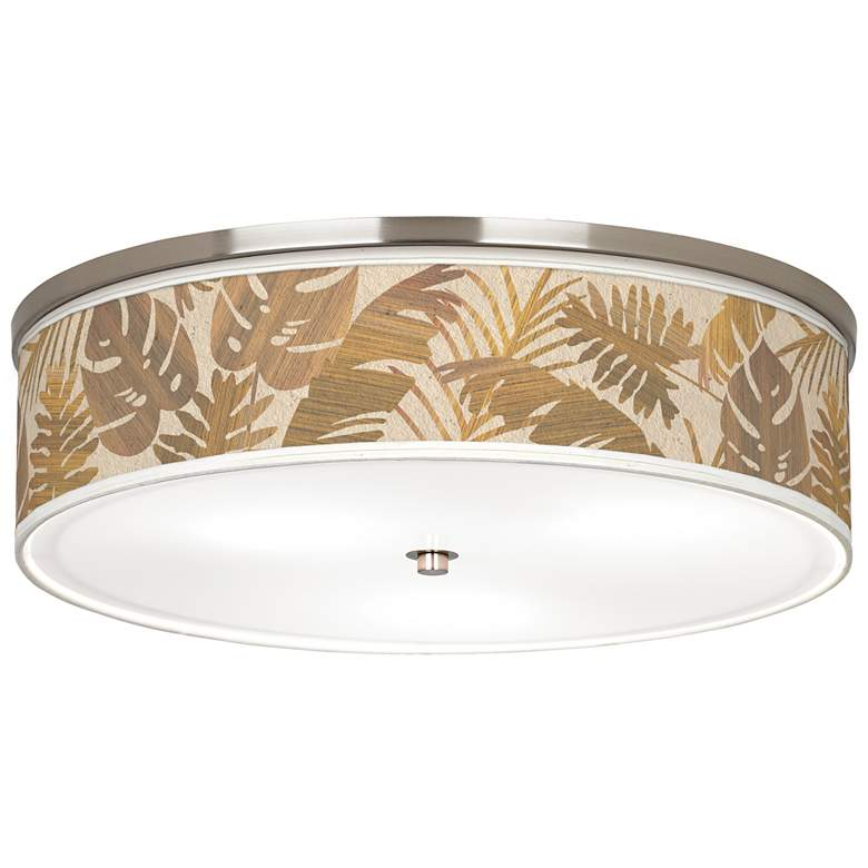 """Tropical Woodwork Giclee Nickel 20 1/4"""" Wide Ceiling Light"""