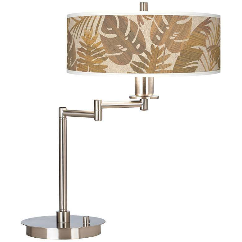 Tropical Woodwork Giclee CFL Swing Arm Desk Lamp