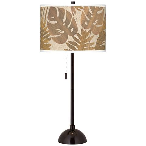 Tropical Woodwork Giclee Glow Tiger Bronze Club Table Lamp