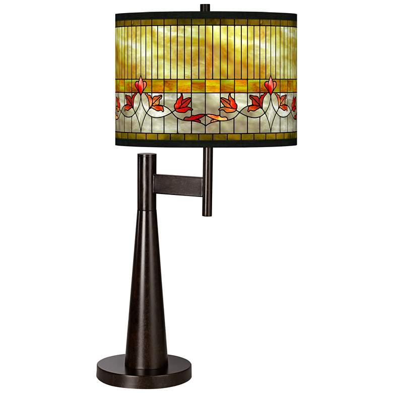 Tiffany-Style Lily Giclee Novo Table Lamp