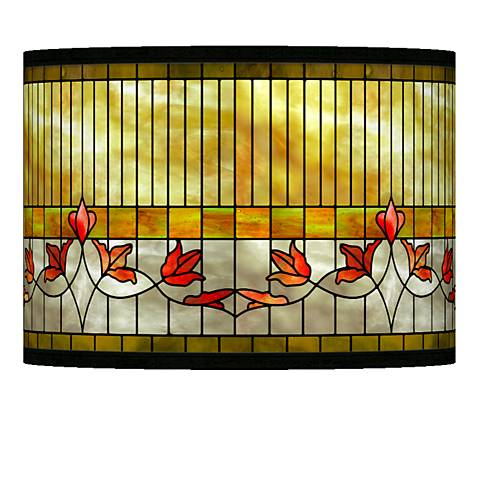 Tiffany-Style Lily Giclee Lamp Shade 13.5x13.5x10 (Spider)