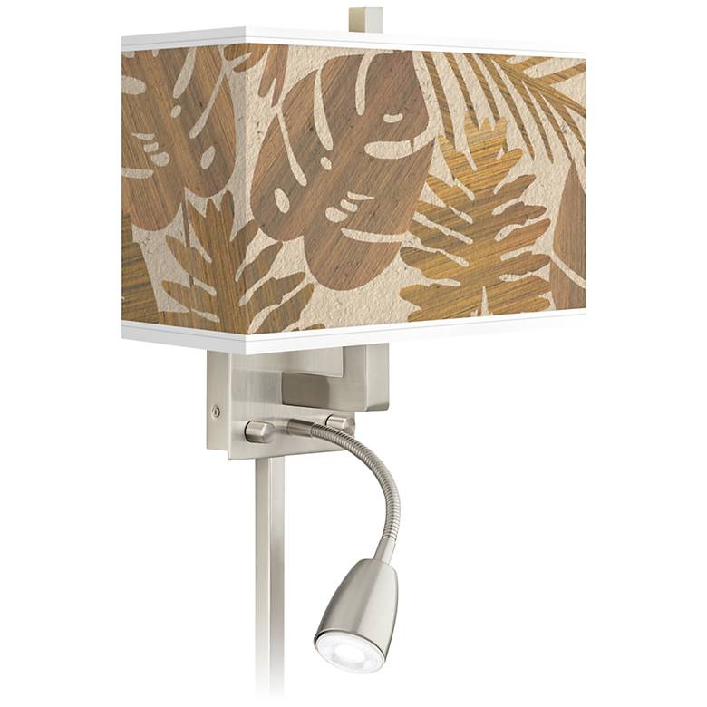 Tropical Woodwork Giclee Glow LED Reading Light Plug-In Sconce