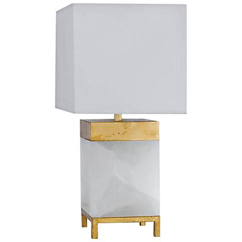 "Jillian 16"" High Alabaster Accent Table Lamp"