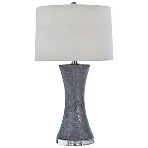Regina Andrew Design Clara Charcoal Shagreen Table Lamp