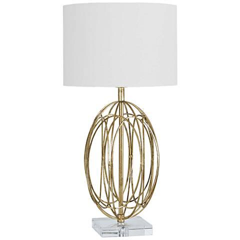 Regina Andrew Design Ofelia Ellipse Gold Leaf Table Lamp