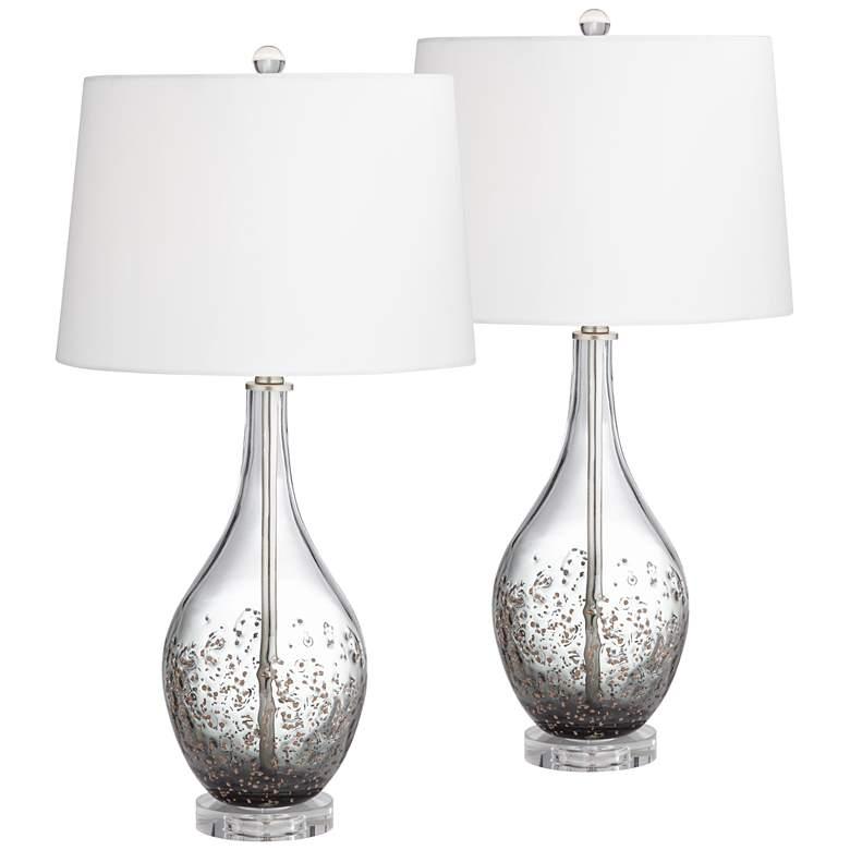 Sparrow Smoke Gray Glass Table Lamp Set of