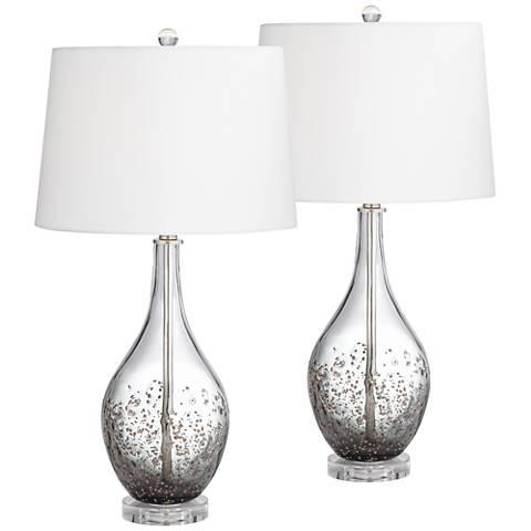 Sparrow Smoke Gray Glass Table Lamp Set of 2