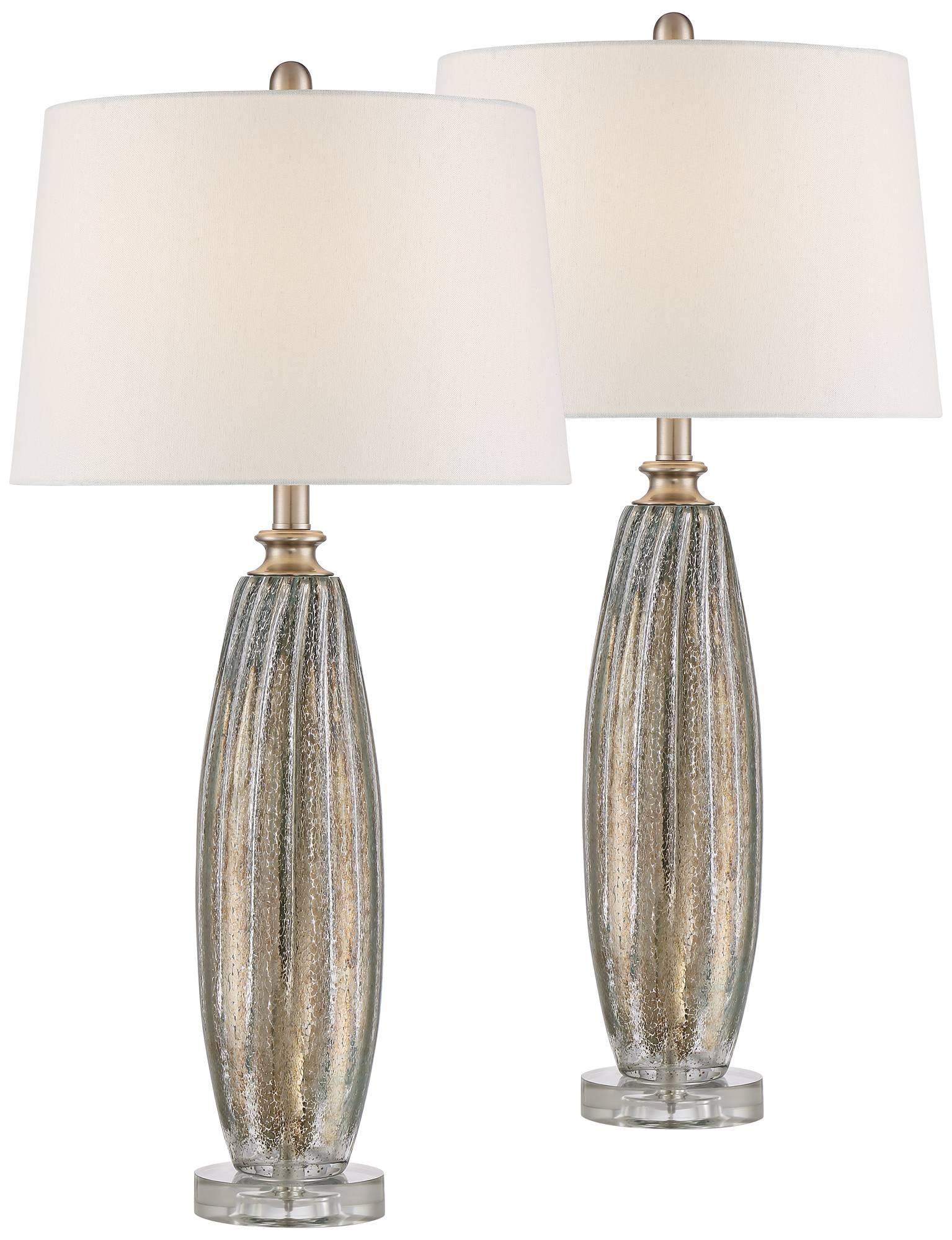 Suri champagne glass table lamp set of 2