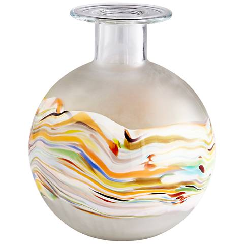 "Cyan Design Kimbie Large 12"" High Multi-Color Glass Vase"