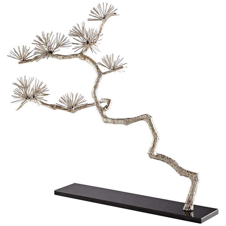 "Cyan Design Holly Tree 33 1/2"" Wide Silver Leaf Sculpture"