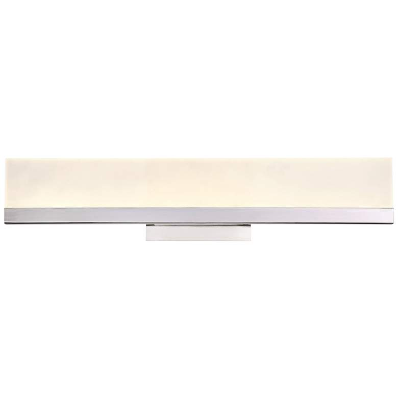 "Eurofase Sole 24"" Wide Chrome LED Modern Bath Light"
