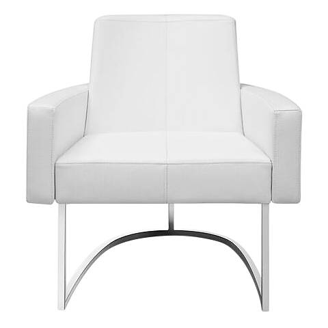 Chichi White Faux Leather Leisure Armchair