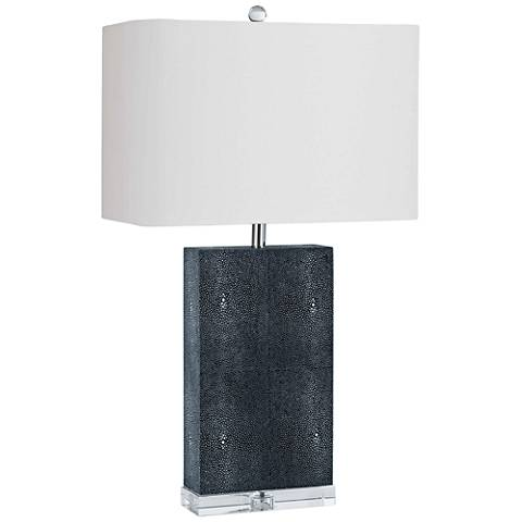 Regina Andrew Design Marcel Charcoal Shagreen Table Lamp