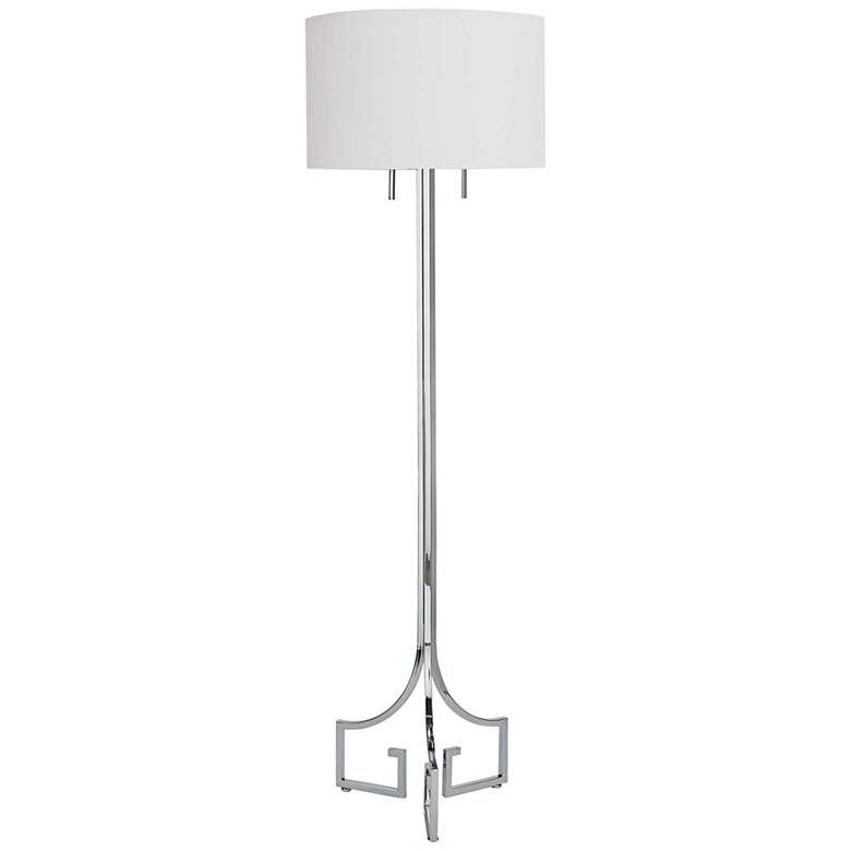 Regina-Andrew Le Chic Polished Nickel Floor Lamp