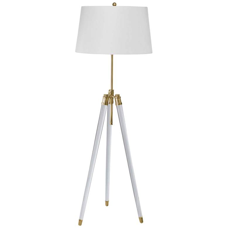 Brigitte Natural Brass Adjustable Floor Lamp
