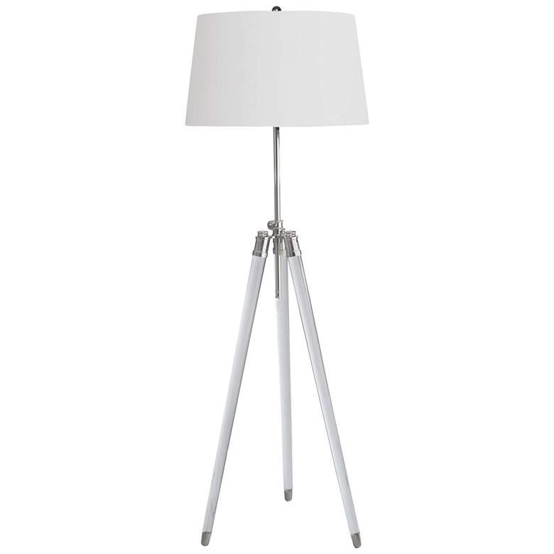 Regina Andrew Brigitte Polished Nickel Adjustable Floor Lamp