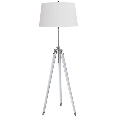 Regina Andrew Brigitte Polished Nickel Adjustable Floor Lamp
