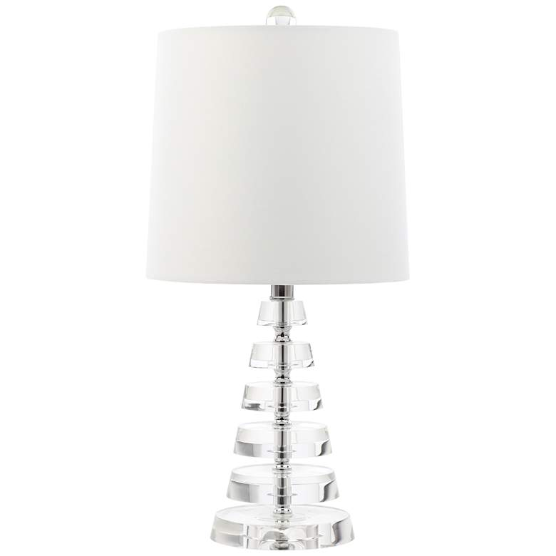 """Cunha 19 1/4""""H Flat Stacked Crystal Discs Accent Table Lamp"""