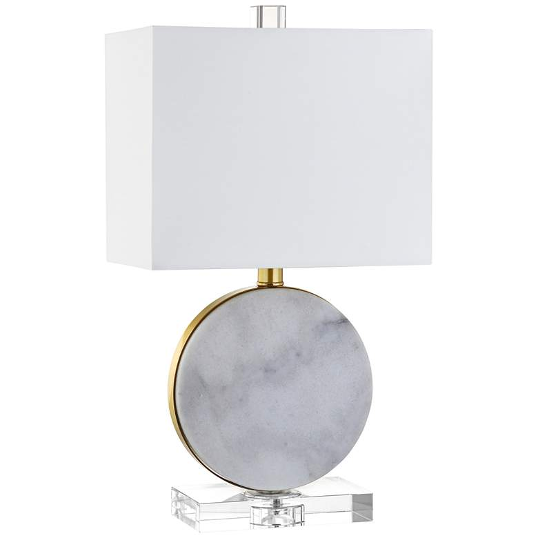 """Cruz 18"""" High White Marble Accent Table Lamp"""