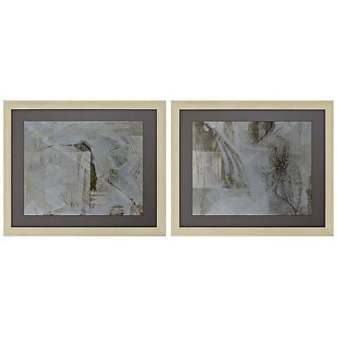 """Flashpoint I 27"""" Wide 2-Piece Framed Giclee Wall Art Set"""