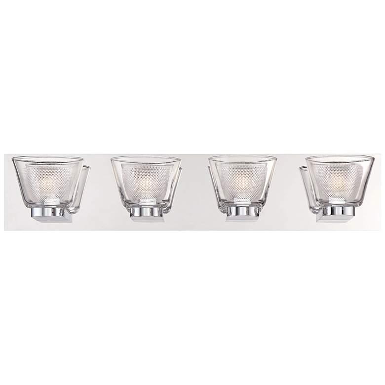 """Eurofase Trent 25 1/4"""" Wide Chrome 4-LED Bath Light"""