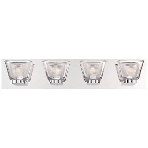 "Eurofase Trent 25 1/4"" Wide Chrome 4-LED Bath Light"