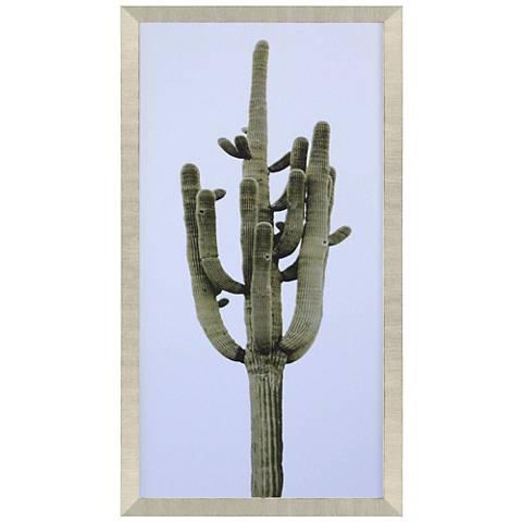 "Saguaro I 39"" High Framed Giclee Wall Art"