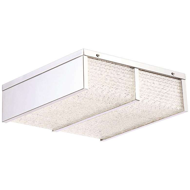 "Eurofase Wynn 12"" Wide Chrome Small LED Ceiling Light"