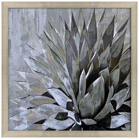 """Succulent Verde I 35"""" Square Framed Giclee Wall Art"""