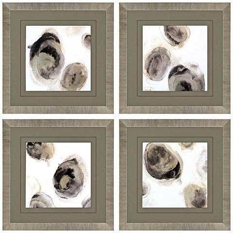 "Stones 21"" Square 4-Piece Framed Wall Art Set"