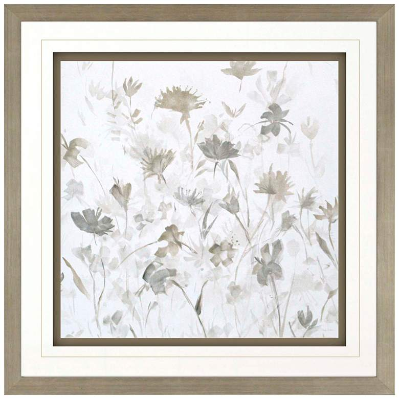 "Garden Shadows III 36"" Square Framed Giclee Wall"