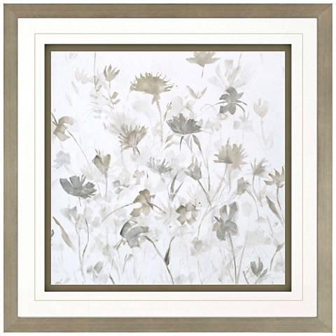 "Garden Shadows III 36"" Square Framed Giclee Wall Art"