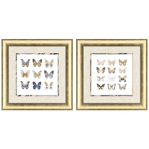 "Butterfly Study 25"" Square 2-Piece Framed Wall Art Set"