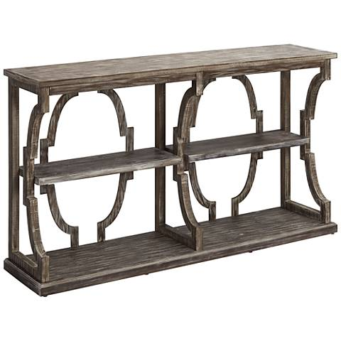 Crestview Collection Stockton Chestnut 3-Tier Console Table