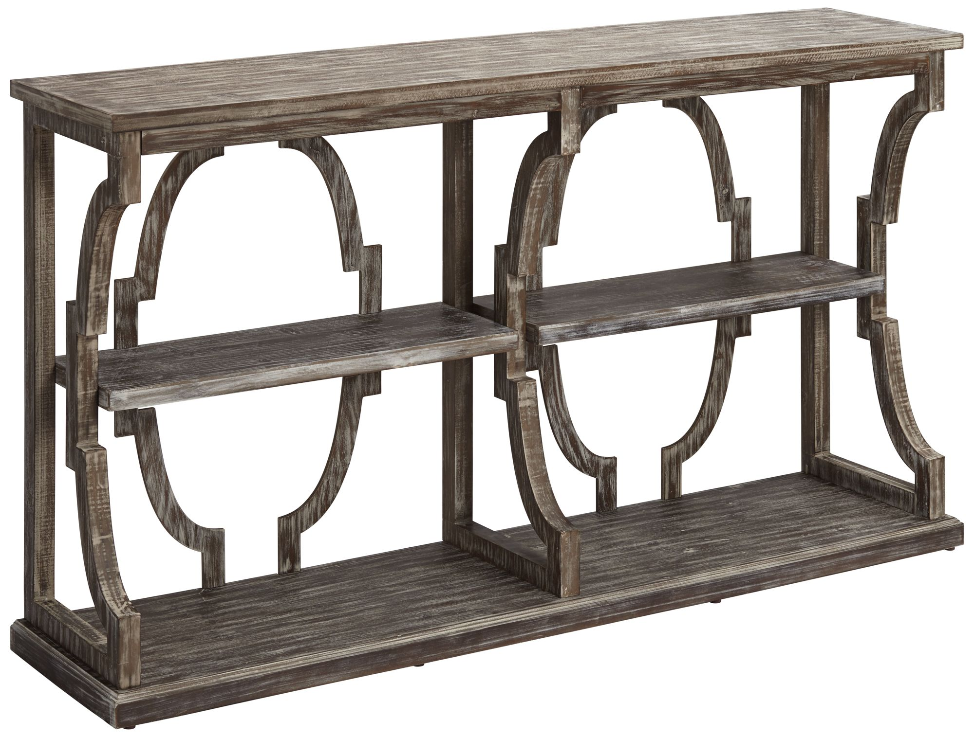 Crestview Collection Stockton Chestnut 3 Tier Console Table
