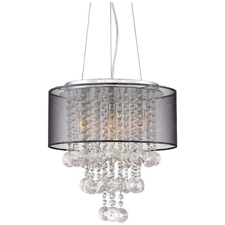 "Possini Euro Bretton 16"" Wide Chrome and Crystal Chandelier"