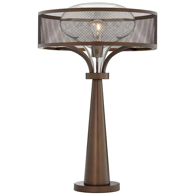 Possini Euro Design Luis Oil Rubbed Bronze Metal Table Lamp