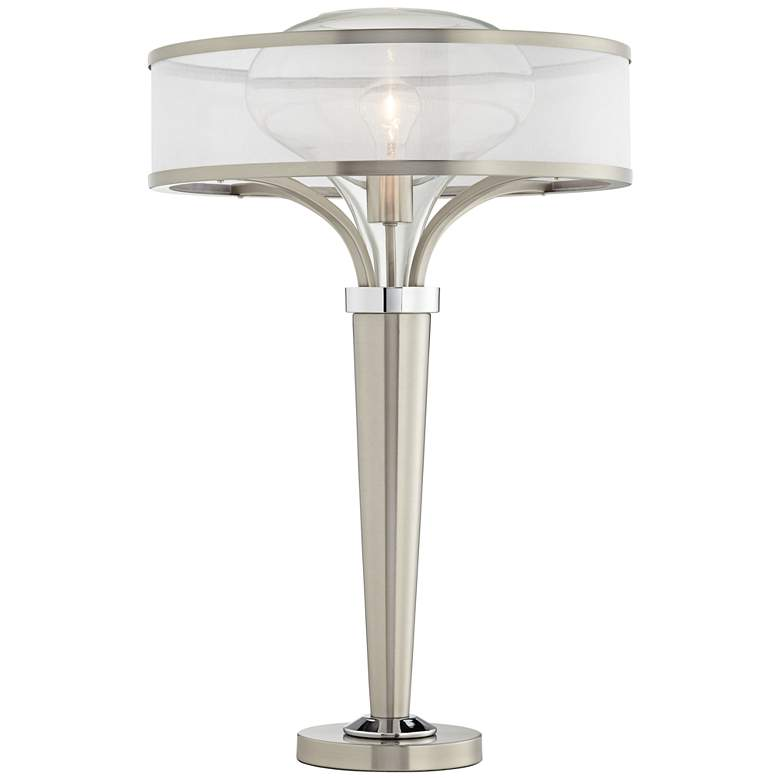 Possini Euro Layne Brushed Nickel Table Lamp