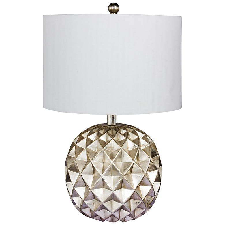 """Trilogy 19 1/2"""" High Silver Foil Accent Table Lamp"""