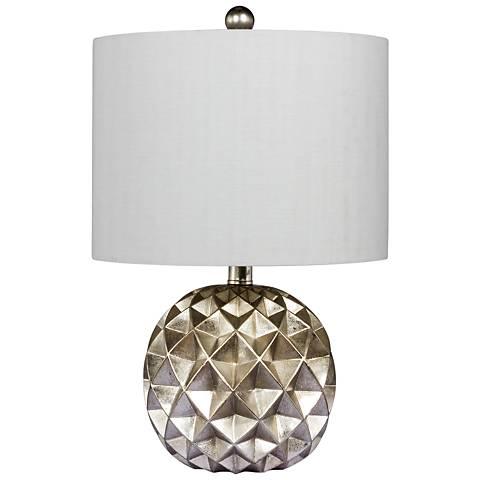 Trilogy Silver Foil Paper Lantern Fold Table Lamp
