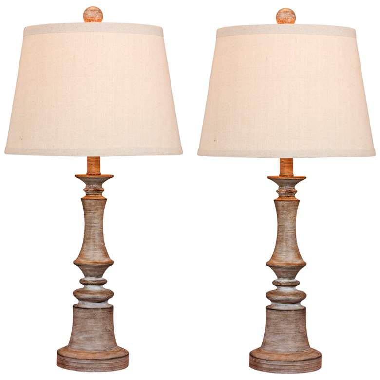Enrico Cottage Weathered Gray Table Lamp Set of