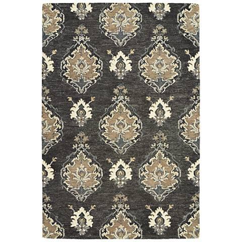 Kaleen Brooklyn 5306-38 Charcoal Wool Area Rug
