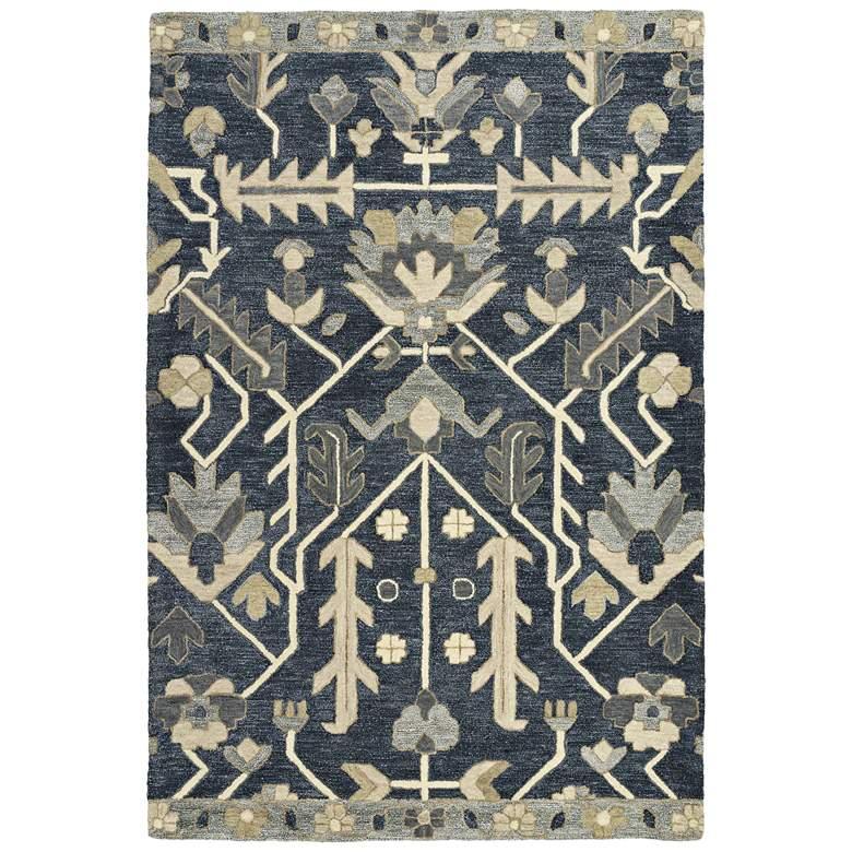 """Kaleen Brooklyn 5307-10 5'x7'6"""" Denim Wool Area Rug"""